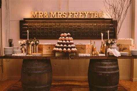 wine box  barrel wedding dessert display