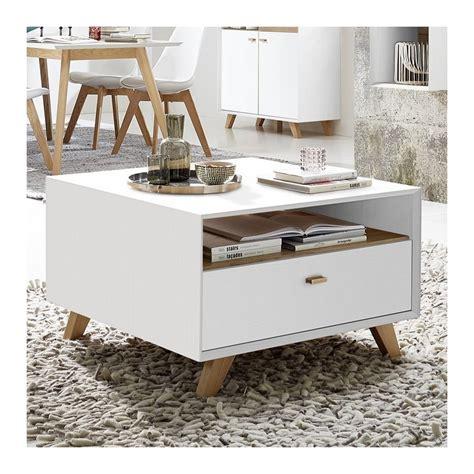 table basse avec tiroir table basse carr 233 e scandinave avec tiroir borgund 80x80cm