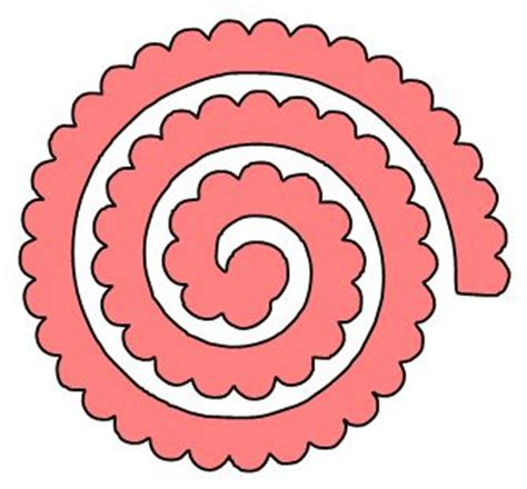 cricut flower template if you prefer an alternate look try this template to go with rolled paper flowers