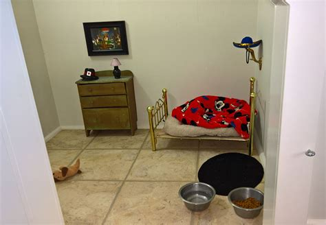 woman built dog bedroom stairs