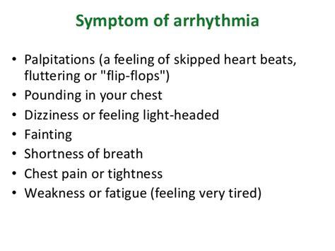 short of breath dizzy light headed arrhythmia