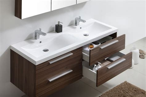 ensemble de bain r 1449 noyer fonc 233 armoire de toilette vasque meuble sous vasque