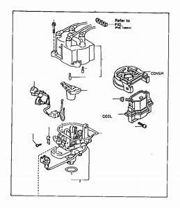 1993 Toyota Tercel Distributor Cap  Ignition  Engine