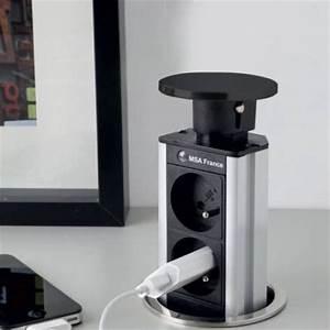 Prise A Encastrer : bloc prise avec usb encastrable plan travail accessoires ~ Premium-room.com Idées de Décoration