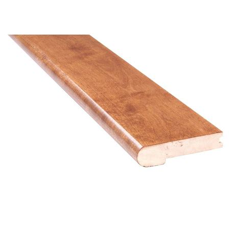 flush stair nose mono serra mistral gunstock birch 3 4 in thick x 4 in wide x 78 in length solid hardwood