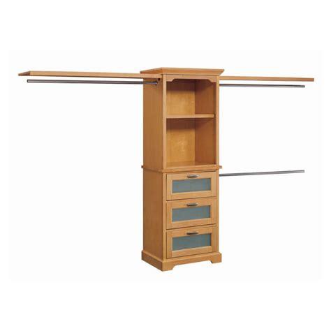 shop whalen storage 10 maple hardwood closet organizer at