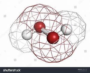 Hydrogen Peroxide  H2o2  Molecule  Chemical Structure
