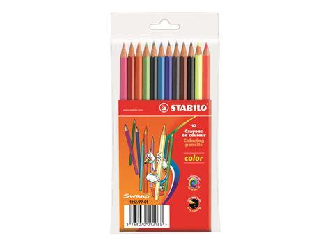 magasin fourniture bureau stabilo color 12 crayon de couleurs couleurs assorties