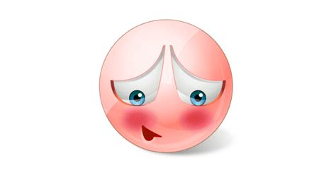 smiley blushing red facebook symbols  chat emoticons
