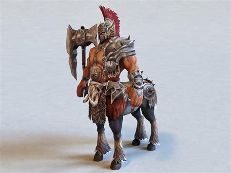 centaur warrior rigged  model ds max files