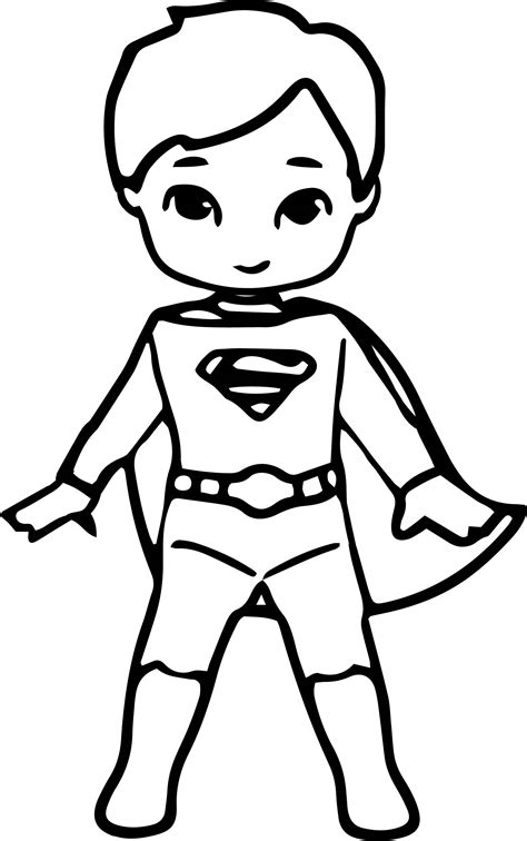 waiting cartoon superhero superman kid coloring page
