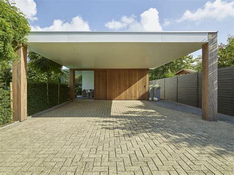 Moderne Carport En Poolhouse Bogarden