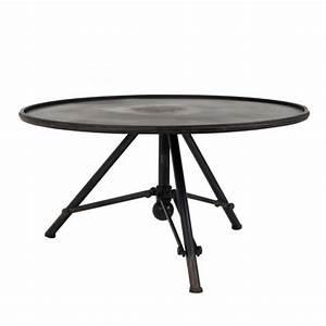 Table Basse Ronde Industrielle : table basse m tal ronde indus brok par ~ Teatrodelosmanantiales.com Idées de Décoration
