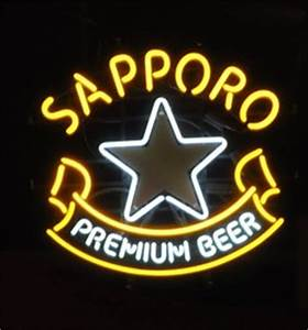 Sapporo Premium Beer Cedar City Utah Neon Signs on