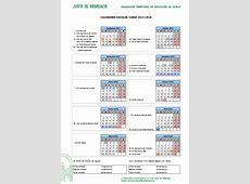 Calendario escolar Sevilla Curso 2017 2018 #papanoara