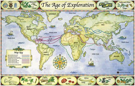 Routes Of Famous Explorers 080812» Vector Clip Art Free