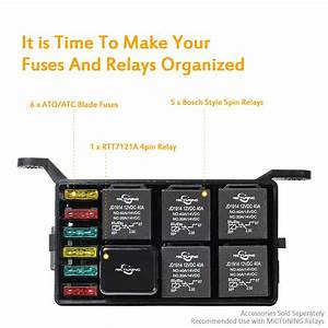 Automotive Car Fuse Relay Holder 12