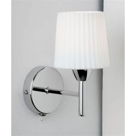 endon lighting contemporary chrome single wall light with glass shade castlegate lights