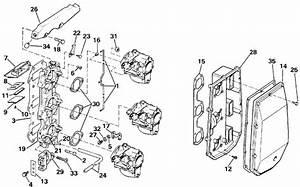 Evinrude Intake Manifold Parts For 1992 70hp E70elend
