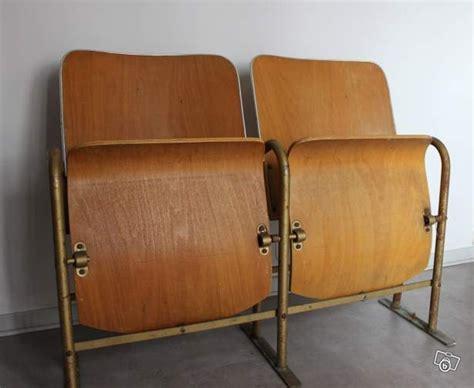 siege cinema occasion vintage siege banquette bois cinéma 2 fauteuils