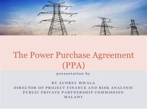 power purchase agreement ppa