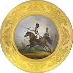 Regiment Plate Porcelain Guard Horse Military Ruzhnikov