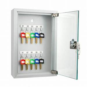 Locking Key Cabinet 10 Position Key Cabinet With Glass