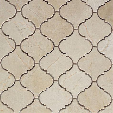 arabesque mosaic tile crema marfil polished arabesque baroque marble mosaic