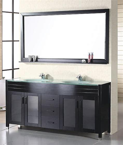 60 Inch Modern Double Sink Bathroom Vanity in Espresso