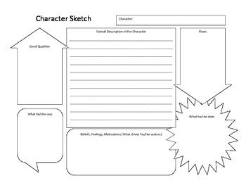 character sketch worksheet by alicia terpstra teachers