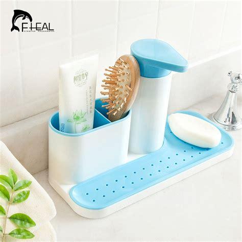 kitchen soap caddy organizer fheal kitchen sponge holder detergent box sink self 6109