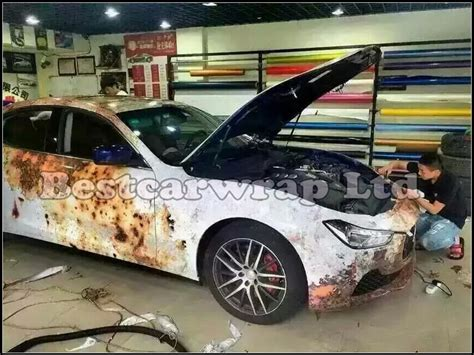 New ! Rust Vinyl Wrap Film For Car Wrap Rust Style Vehicle