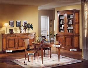 salle a manger avec buffet 3 portes directoire des meubles With salle À manger contemporaineavec buffet haut salle a manger