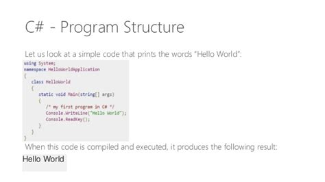 learn  programming program structure basic syntax