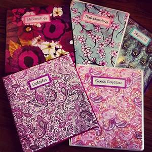 Floral, paisley and peacock DIY Binder covers made with ...