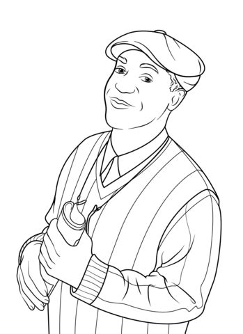 bill cosby coloring page  printable coloring pages