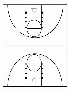 Basketball Court Drawing With Label At Getdrawings Com