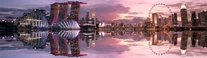 Singapore Reflection Dual Standard Wallpaperswide