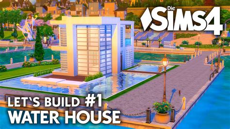 Modernes Die Sims 4 Haus Bauen  Water House #1 Let's