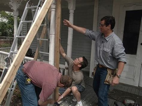 How To Replace Front Porch Columns by How To Remove And Brace A Rotting Porch Column How Tos Diy