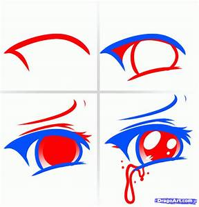 how to draw anime eyes crying step by step for beginners ...