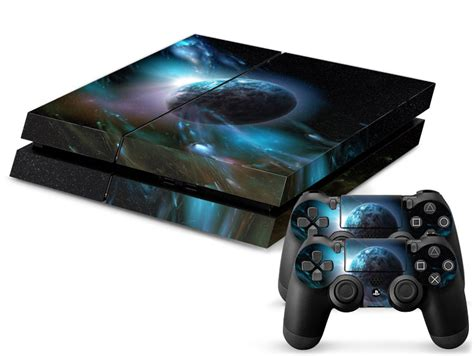low price universe skin sticker for playstation 4 ps4 console 2pcs free controller cover