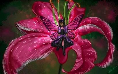 Fairy Desktop Wallpapers Butterfly Pink Fantasy Background
