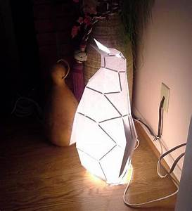 make your own penguin lamp pattern instructions for diy With make a paper floor lamp
