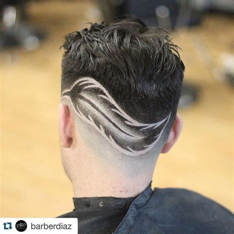 feather hair design   nba approved atbarberdiaz