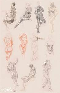Through Glasses  Figure Drawing