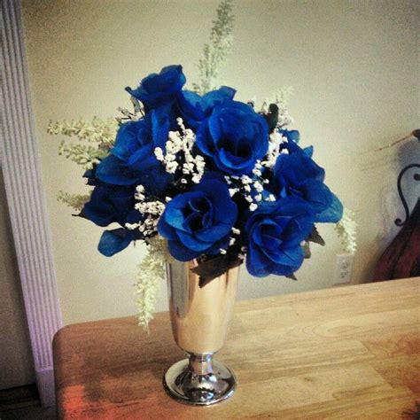 royal blue table decorations royal blue with silver wedding centerpiece color trends
