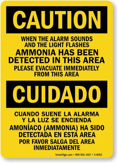 ammonia signs ammonia warning signs mysafetysigncom