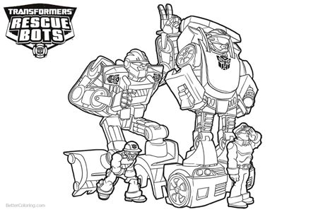 rescue bots coloring pages characters from transformers rescue bots coloring pages