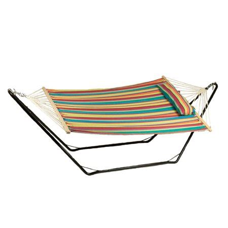 10 Foot Hammock by Sunnydaze Cotton Fabric Hammock And Detachable Pillow With
